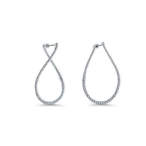 14k White Gold Lusso Diamond Fashion Earrings angle 3