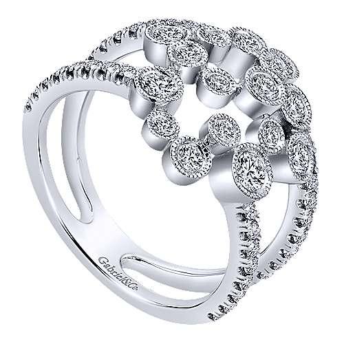 14k White Gold Lusso Diamond Fashion Ladies