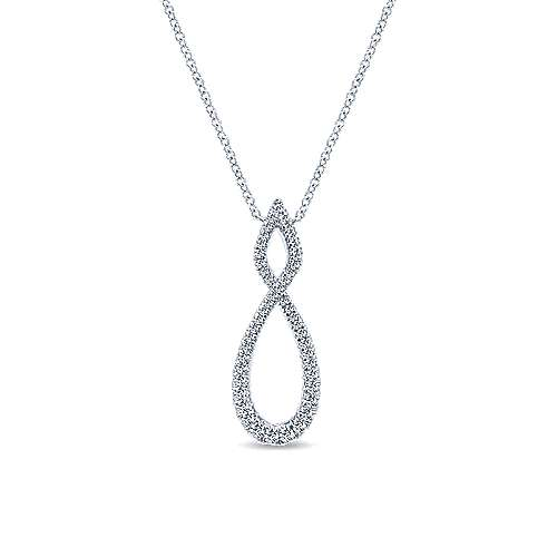 14k White Gold Lusso Diamond Fashion Necklace angle 1