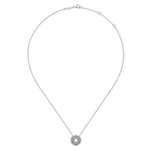 14k White Gold Lusso Diamond Fashion Necklace angle 2