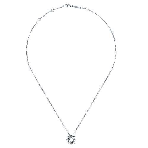 14k White Gold Lusso Diamond Fashion Necklace angle 2