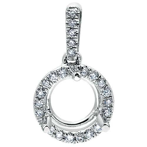 Gabriel - 14k White Gold Lusso Diamond Fashion Pendant