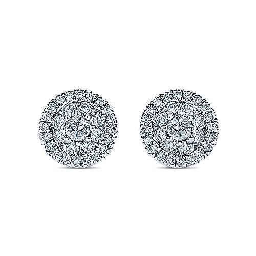 Gabriel - 14k White Gold Lusso Diamond Stud Earrings