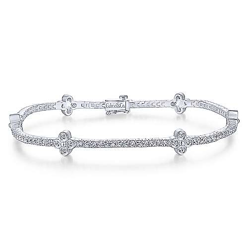 Gabriel - 14k White Gold Lusso Diamond Tennis Bracelet