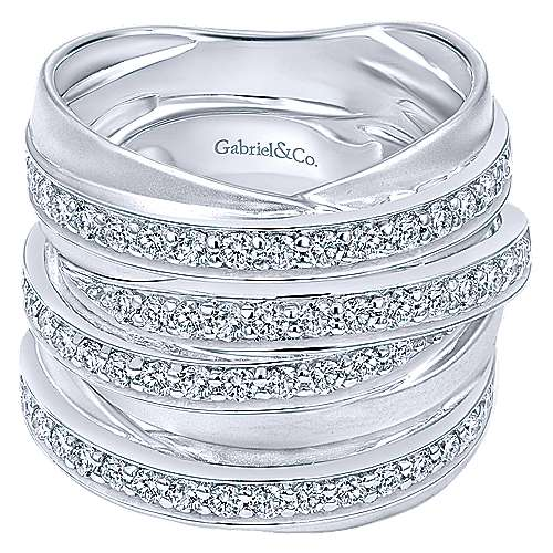 14k White Gold  Wide Band