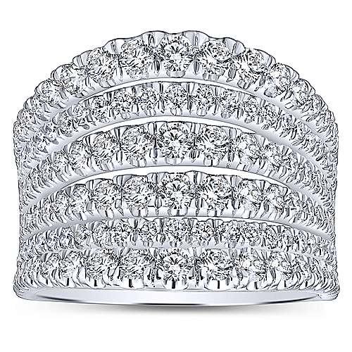 14k White Gold Lusso Diamond Wide Band Ladies
