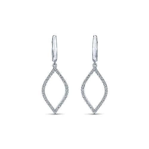 14k White Gold Lusso Drop Earrings angle 1