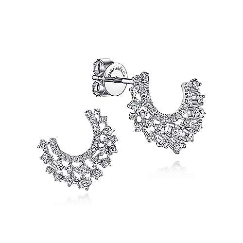 Gabriel - 14k White Gold Lusso Drop Earrings