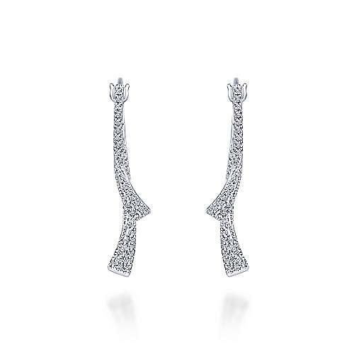 Gabriel - 14k White Gold Lusso Drop Earrings