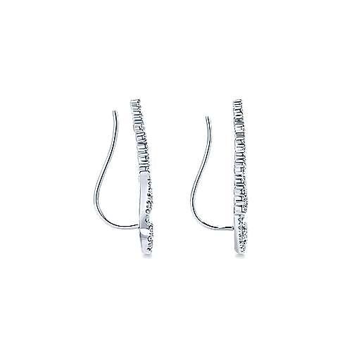 14k White Gold Lusso Ear Climber Earrings angle 3