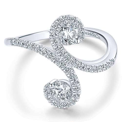 Gabriel - 14k White Gold Lusso Fashion Ladies' Ring
