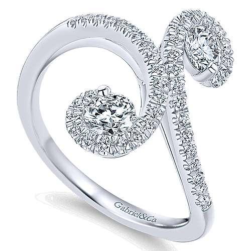 14k White Gold Lusso Fashion Ladies' Ring angle 3