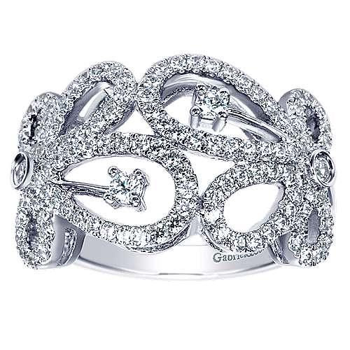14k White Gold Lusso Fashion Ladies' Ring angle 5