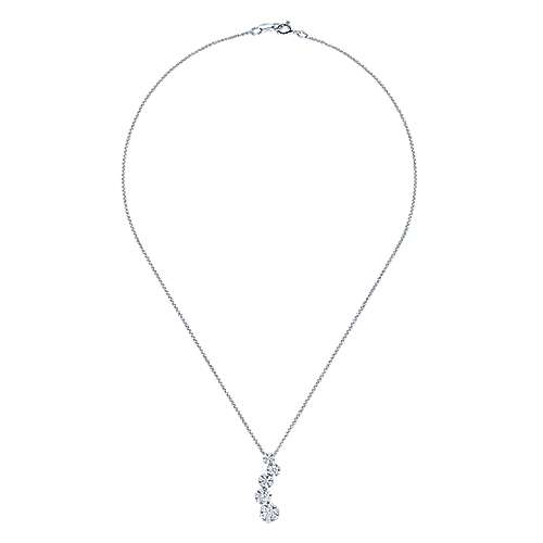 14k White Gold Lusso Fashion Necklace angle 2