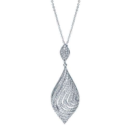 Gabriel - 14k White Gold Lusso Fashion Necklace
