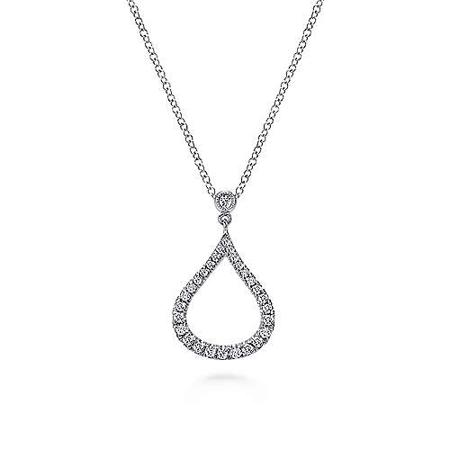 14k White Gold Lusso Fashion Necklace