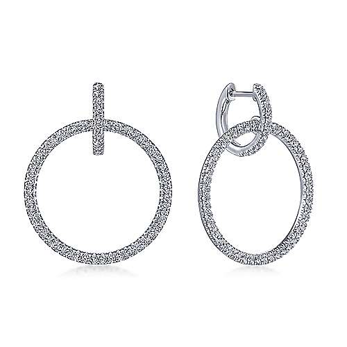14k White Gold Lusso Huggie Earrings