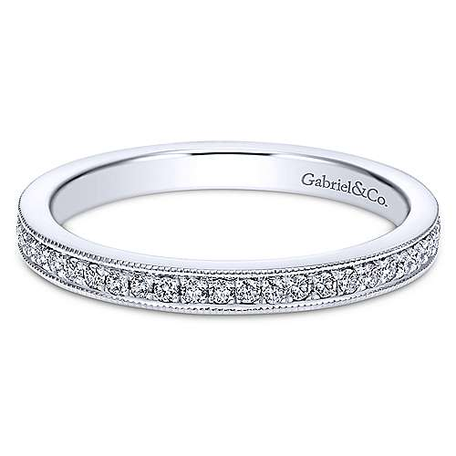 14k White Gold Lusso Midi Ladies' Ring angle 1