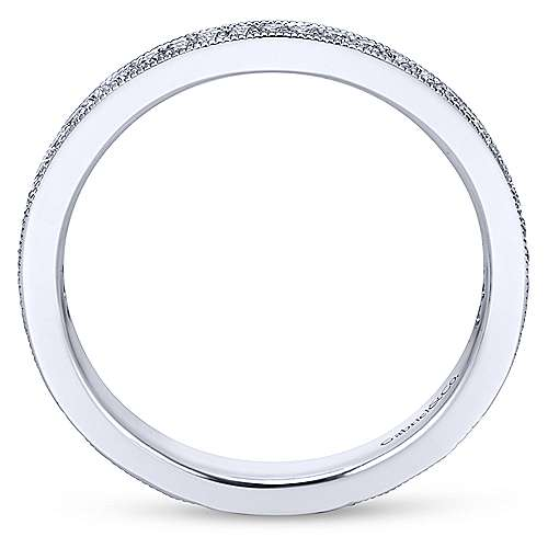 14k White Gold Lusso Midi Ladies' Ring angle 2