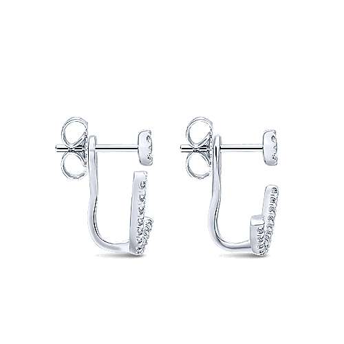 14k White Gold Lusso Peek A Boo Earrings angle 3