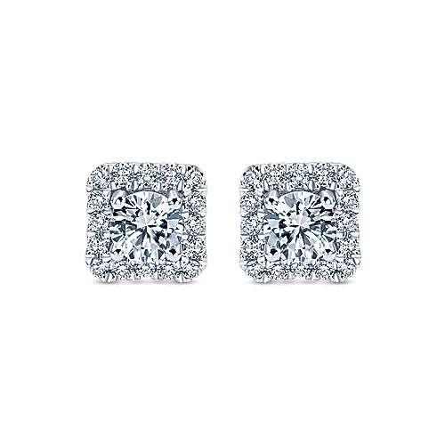 Gabriel - 14k White Gold Lusso Stud Earrings