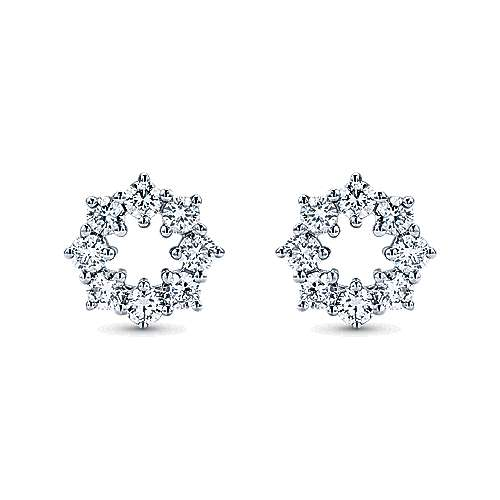 Gabriel - 14k White Gold Lusso Stud Earrings