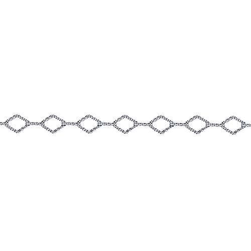 14k White Gold Lusso Tennis Bracelet angle 2