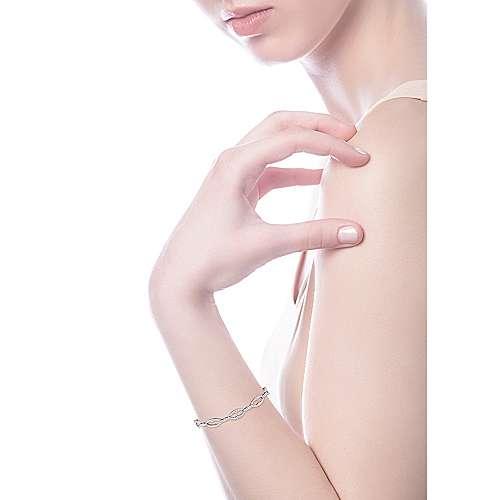 14k White Gold Lusso Tennis Bracelet angle 4