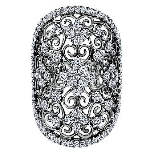 14k White Gold Mediterranean Fashion Ladies' Ring angle 1