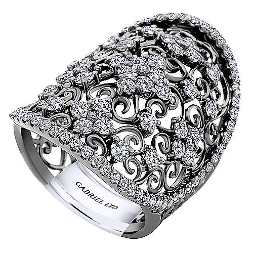 14k White Gold Mediterranean Fashion Ladies
