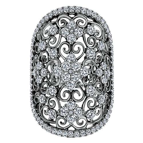 14k White Gold Mediterranean Fashion Ladies' Ring angle 4