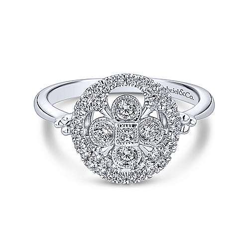 Gabriel - 14k White Gold Messier Classic Ladies' Ring