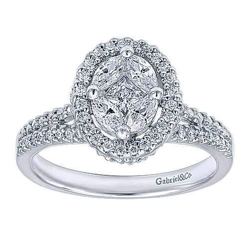 14k White Gold Messier Classic Ladies' Ring angle 4
