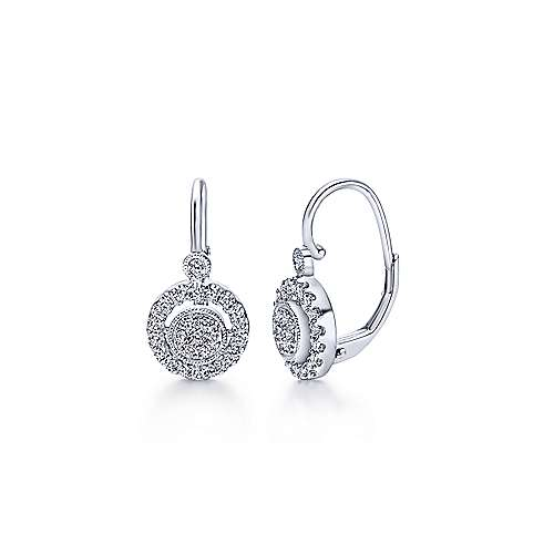 14k White Gold Messier Drop Earrings angle 1