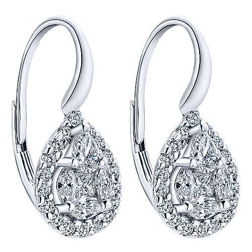14k White Gold Messier Drop Earrings angle 2