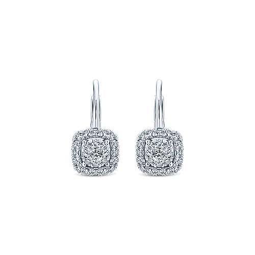 Gabriel - 14k White Gold Messier Drop Earrings