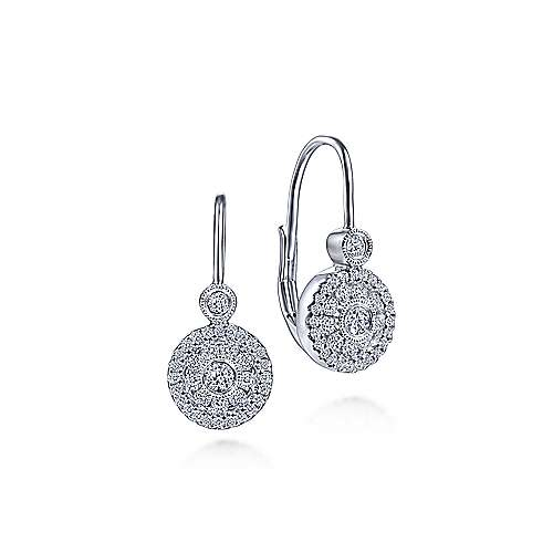 Gabriel - 14k White Gold Messier Drop Earrings
