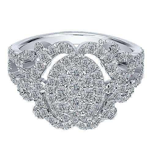 Gabriel - 14k White Gold Messier Fashion Ladies' Ring