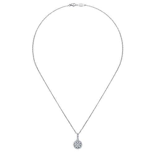 14k White Gold Messier Fashion Necklace angle 2