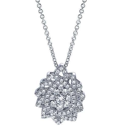 Gabriel - 14k White Gold Messier Fashion Necklace