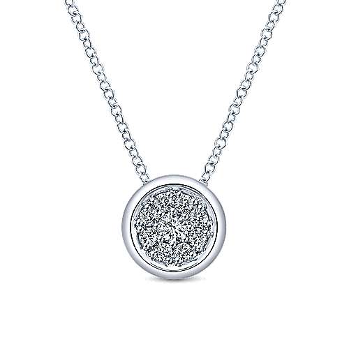 Gabriel - 14k White Gold Messier Fashion Necklace