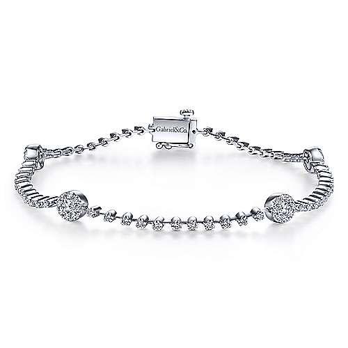14k White Gold Messier Tennis Bracelet