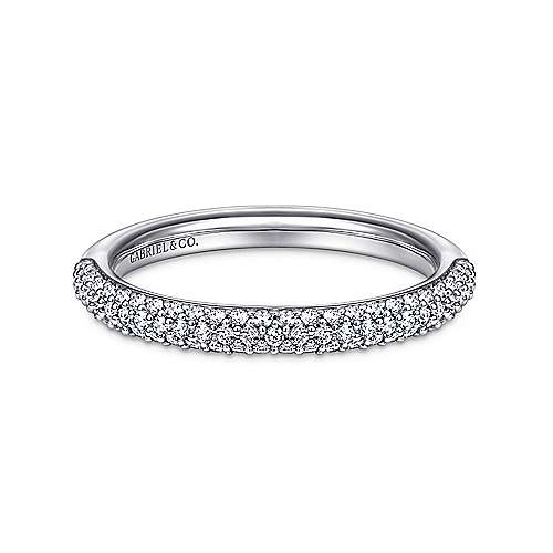 14k White Gold Micro Pavé Band