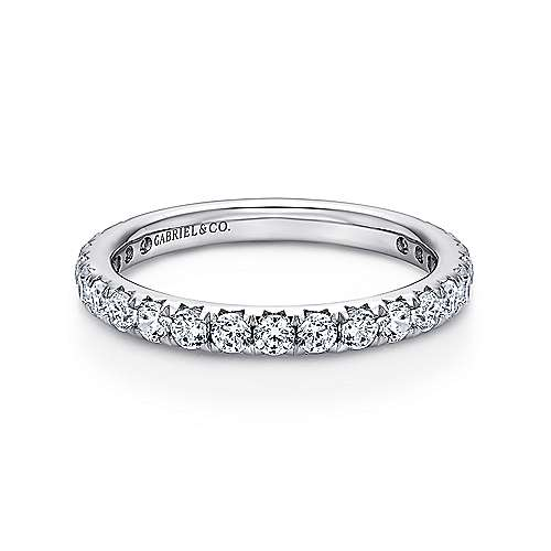 14k White Gold Micro Pavé Eternity Band