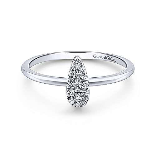 Gabriel - 14k White Gold Midi Ladies' Ring