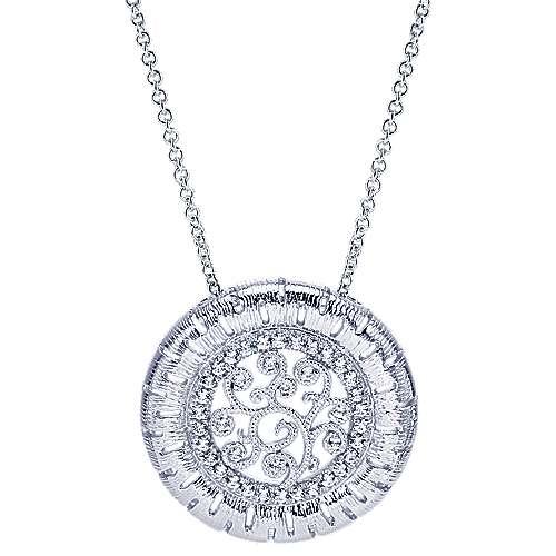 Gabriel - 14k White Gold Nature Fashion Necklace