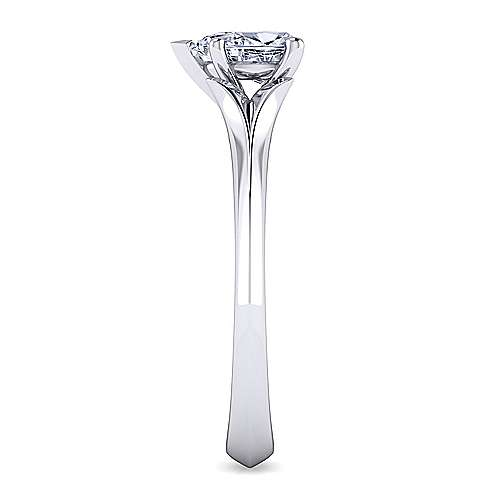 14k White Gold Pear Shape Solitaire Engagement Ring angle 5