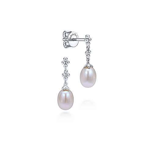 Gabriel - 14k White Gold Bombay Drop Earrings