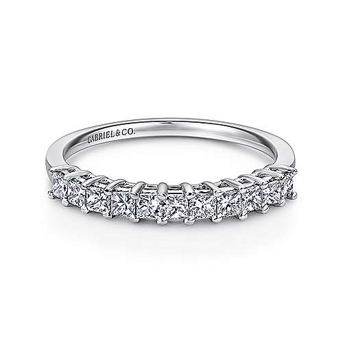 cfm bands eternity diamond gold band set in tcw wedandetails wedding anniversary cut white princess prong u