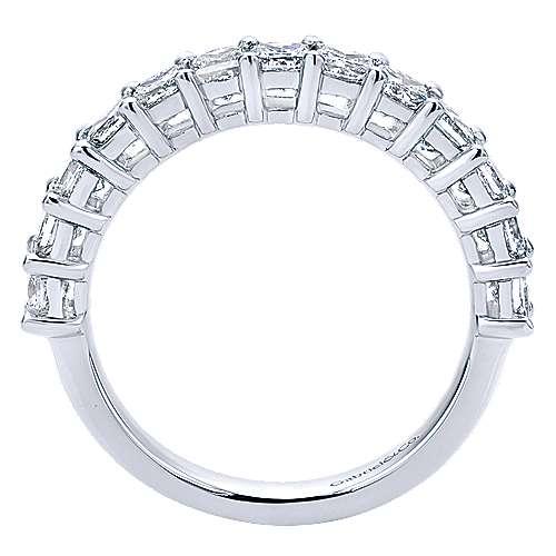 14k White Gold Princess Cut 13 Stone Prong Set Band
